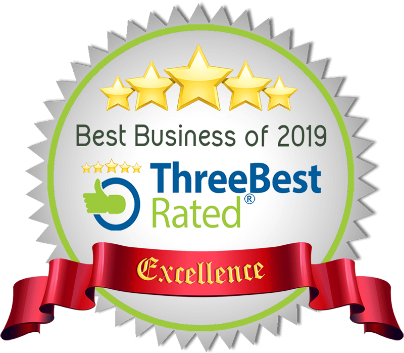 Best Business 2019 Award of Excellence from ThreeBestRated.ca