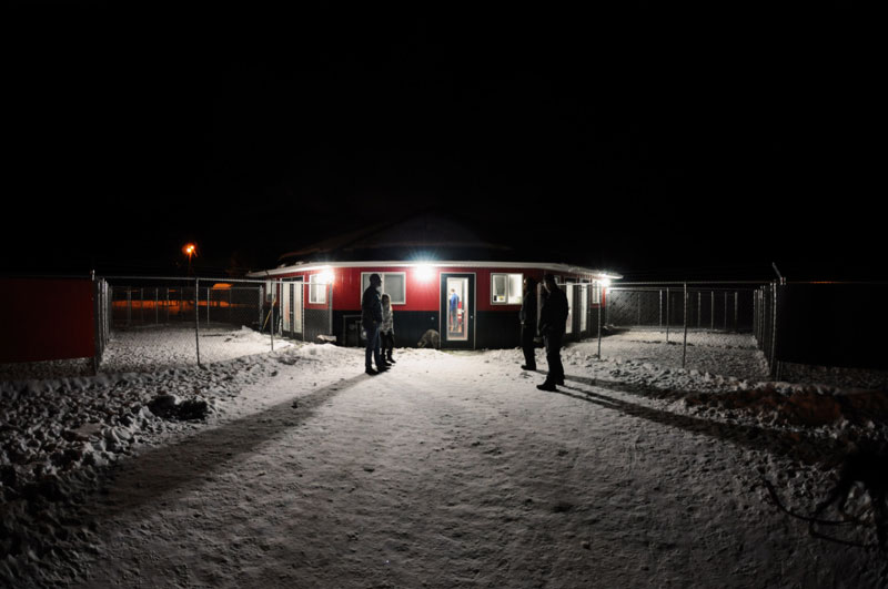 780 Kennels at night time.