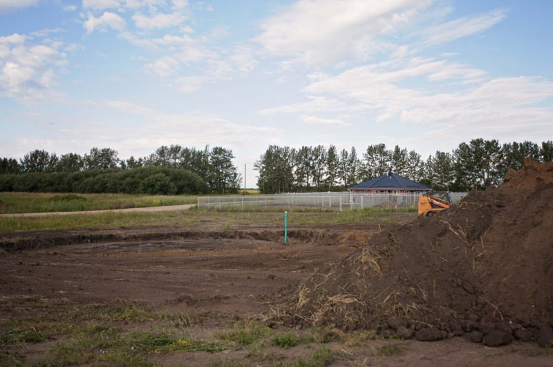 Breaking ground for the second kennel facility.